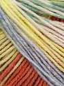 Fiber Content 100% Acrylic, Yellow, White, Salmon, Mint Green, Brand Ice Yarns, Blue, Yarn Thickness 2 Fine  Sport, Baby, fnt2-43716