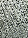 Fiber Content 70% Viscose, 30% Metallic Lurex, Silver, Mint Green, Brand Ice Yarns, fnt2-43757
