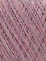 Fiber Content 70% Viscose, 30% Metallic Lurex, Silver, Pink, Brand Ice Yarns, fnt2-43759
