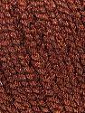 Fiber Content 52% Metallic Lurex, 48% Polyester, Brand Ice Yarns, Copper, Black, fnt2-44806