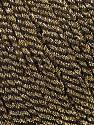 Fiber Content 52% Metallic Lurex, 48% Polyester, Brand Ice Yarns, Gold, Black, fnt2-44807