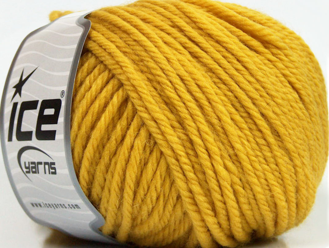 Bulky Yarn : Superwash Wool Bulky Gold at Yarn Paradise