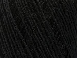 Fiber Content 100% Viscose, Brand ICE, Black, Yarn Thickness 3 Light  DK, Light, Worsted, fnt2-49536