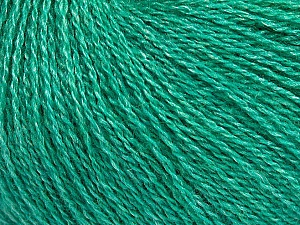 Fiber Content 65% Merino Wool, 35% Silk, Brand ICE, Emerald Green, Yarn Thickness 1 SuperFine  Sock, Fingering, Baby, fnt2-51458