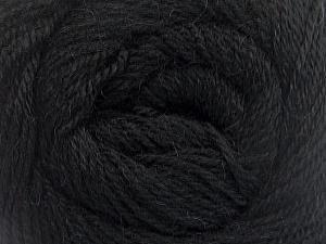 Fiber Content 45% Alpaca, 30% Polyamide, 25% Wool, Brand ICE, Black, Yarn Thickness 2 Fine  Sport, Baby, fnt2-51586