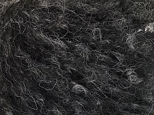 Fiber Content 40% Acrylic, 20% Polyamide, 20% Mohair, 20% Wool, Brand ICE, Black Melange, fnt2-52137