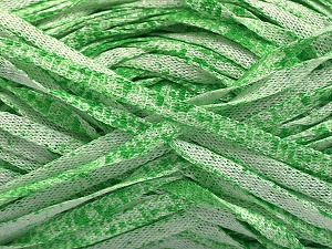 Fiber Content 82% Viscose, 18% Polyester, White, Light Green, Brand ICE, Yarn Thickness 5 Bulky  Chunky, Craft, Rug, fnt2-55012