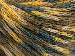 Fiber Content 60% Acrylic, 40% Wool, Yellow, Khaki, Brand ICE, Grey, Beige, fnt2-55523