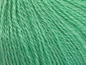 Fiber Content 65% Merino Wool, 35% Silk, Mint Green, Brand ICE, Yarn Thickness 1 SuperFine  Sock, Fingering, Baby, fnt2-57862