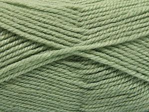 Fiber Content 50% Wool, 50% Acrylic, Light Green, Brand ICE, Yarn Thickness 4 Medium  Worsted, Afghan, Aran, fnt2-58187