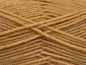 Fiber Content 50% Wool, 50% Acrylic, Brand ICE, Cafe Latte, Yarn Thickness 4 Medium  Worsted, Afghan, Aran, fnt2-58370