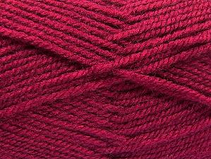 Fiber Content 50% Wool, 50% Acrylic, Brand ICE, Dark Fuchsia, Yarn Thickness 4 Medium  Worsted, Afghan, Aran, fnt2-58382