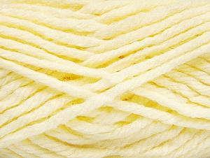 Fiber Content 60% Acrylic, 40% Wool, Light Yellow, Brand ICE, fnt2-58684
