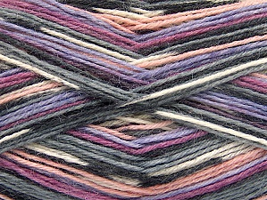 Fiber Content 75% Superwash Wool, 25% Polyamide, Orchid, Lilac, Light Pink, Brand ICE, Grey, Yarn Thickness 1 SuperFine  Sock, Fingering, Baby, fnt2-59008