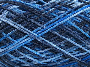 Fiber Content 50% Wool, 40% Polyamide, 10% Acrylic, Brand ICE, Blue Shades, fnt2-59720