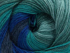 Fiber Content 70% Acrylic, 30% Merino Wool, Navy, Brand ICE, Green Shades, Blue Shades, Yarn Thickness 2 Fine  Sport, Baby, fnt2-59776