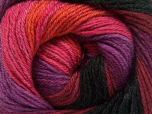 Fiber Content 70% Acrylic, 30% Merino Wool, Purple, Pink, Orange, Brand ICE, Burgundy, Black, Yarn Thickness 2 Fine  Sport, Baby, fnt2-59778