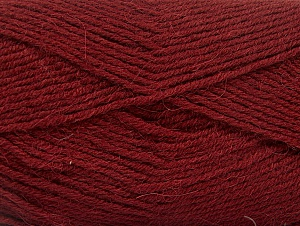 Fiber Content 50% Acrylic, 25% Wool, 25% Alpaca, Brand ICE, Burgundy, Yarn Thickness 3 Light  DK, Light, Worsted, fnt2-60895