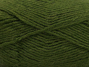 Fiber Content 50% Acrylic, 25% Wool, 25% Alpaca, Brand ICE, Dark Green, Yarn Thickness 3 Light  DK, Light, Worsted, fnt2-60899
