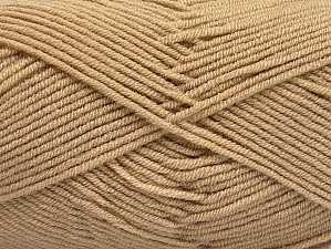 Fiber Content 100% Acrylic, Light Camel, Brand ICE, Yarn Thickness 4 Medium  Worsted, Afghan, Aran, fnt2-60963