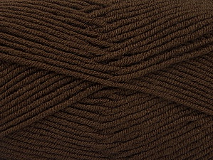 Fiber Content 100% Acrylic, Brand ICE, Dark Brown, Yarn Thickness 4 Medium  Worsted, Afghan, Aran, fnt2-60968