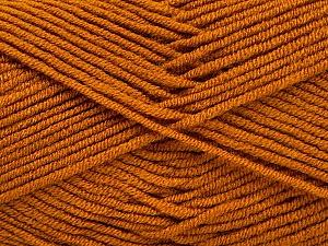 Fiber Content 100% Acrylic, Brand ICE, Dark Gold, Yarn Thickness 4 Medium  Worsted, Afghan, Aran, fnt2-60971