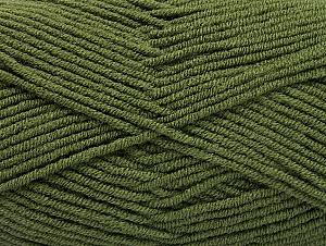 Fiber Content 100% Acrylic, Khaki, Brand ICE, Yarn Thickness 4 Medium  Worsted, Afghan, Aran, fnt2-60980
