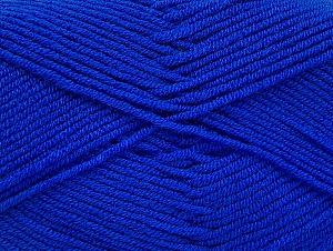 Fiber Content 100% Acrylic, Royal Blue, Brand ICE, Yarn Thickness 4 Medium  Worsted, Afghan, Aran, fnt2-60985