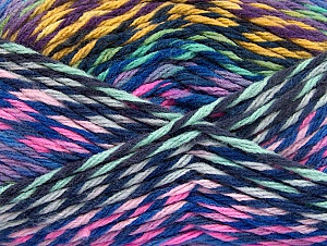 Fiber Content 100% Premium Acrylic, Yellow, Purple Shades, Pink, Brand ICE, Green Shades, Yarn Thickness 4 Medium  Worsted, Afghan, Aran, fnt2-61111