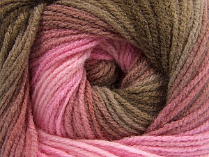 Fiber Content 100% Acrylic, Pink Shades, Brand ICE, Brown Shades, Yarn Thickness 3 Light  DK, Light, Worsted, fnt2-61136