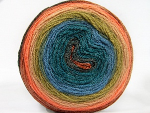 Fiber Content 70% Premium Acrylic, 30% Wool, Turquoise, Salmon, Brand ICE, Green, Yarn Thickness 3 Light  DK, Light, Worsted, fnt2-61233