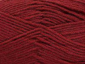Fiber Content 100% Acrylic, Brand ICE, Burgundy, Yarn Thickness 4 Medium  Worsted, Afghan, Aran, fnt2-61284