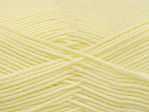 Fiber Content 60% Bamboo, 40% Polyamide, Light Yellow, Brand ICE, Yarn Thickness 2 Fine  Sport, Baby, fnt2-61320