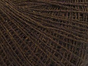 Fiber Content 40% Wool, 40% Acrylic, 20% Viscose, Brand ICE, Dark Brown, fnt2-61363