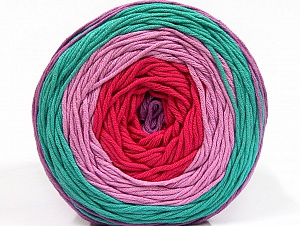 Fiber Content 50% Cotton, 50% Acrylic, Salmon, Mint Light Green Lilac, Lilac, Brand ICE, Yarn Thickness 3 Light  DK, Light, Worsted, fnt2-61795