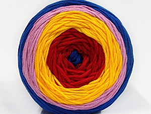 Fiber Content 50% Cotton, 50% Acrylic, Yellow, Red, Light Lilac, Brand ICE, Blue, Yarn Thickness 3 Light  DK, Light, Worsted, fnt2-61797