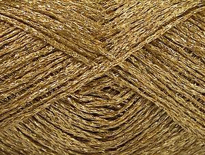 Fiber Content 75% Viscose, 25% Metallic Lurex, Brand ICE, Dark Gold, fnt2-62236