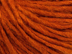 Fiber Content 50% Merino Wool, 25% Acrylic, 25% Alpaca, Brand ICE, Dark Orange, Yarn Thickness 5 Bulky  Chunky, Craft, Rug, fnt2-62353