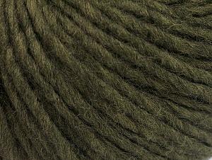 Fiber Content 50% Merino Wool, 25% Acrylic, 25% Alpaca, Khaki, Brand ICE, Yarn Thickness 5 Bulky  Chunky, Craft, Rug, fnt2-62358