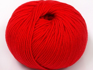 Fiber Content 50% Cotton, 50% Acrylic, Red, Brand ICE, fnt2-62397