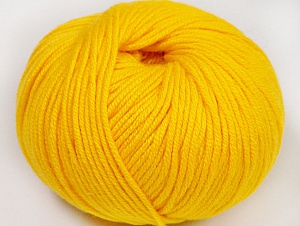 Fiber Content 50% Cotton, 50% Acrylic, Yellow, Brand ICE, fnt2-62403