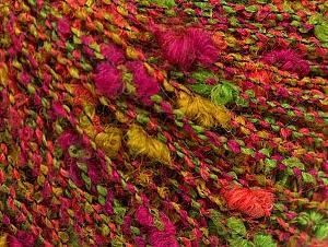 Fiber Content 60% Wool, 40% Acrylic, Salmon, Brand ICE, Green, Fuchsia, fnt2-62527