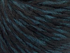 Fiber Content 60% Wool, 40% Acrylic, Turquoise, Brand ICE, Black, fnt2-62530