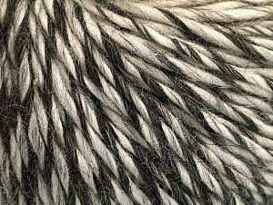 Fiber Content 50% Merino Wool, 25% Alpaca, 25% Acrylic, Brand ICE, Grey Shades, Cream, Black, Yarn Thickness 5 Bulky  Chunky, Craft, Rug, fnt2-62541