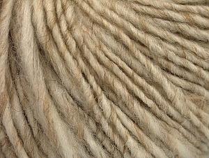 Fiber Content 40% Acrylic, 35% Wool, 25% Alpaca, Brand ICE, Cream melange, Yarn Thickness 4 Medium  Worsted, Afghan, Aran, fnt2-62543
