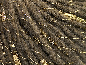 Metallic  Fiber Content 60% Wool, 30% Acrylic, 10% Metallic Lurex, Brand ICE, Gold, Camel, fnt2-62634