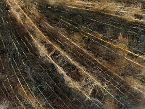 Fiber Content 40% Polyamide, 30% Kid Mohair, 30% Acrylic, Brand ICE, Brown Shades, Anthracite, fnt2-62668