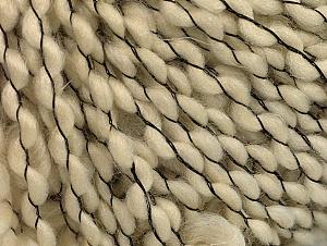 Fiber Content 60% Wool, 30% Acrylic, 10% Polyamide, Brand ICE, Cream, Black, fnt2-62977