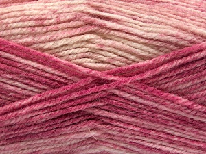 Fiber Content 50% Wool, 50% Premium Acrylic, Pink Shades, Brand Ice Yarns, Cream, fnt2-65295