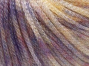 Fiber Content 62% Polyester, 19% Merino Wool, 19% Acrylic, Lilac, Light Yellow, Brand Ice Yarns, fnt2-65328
